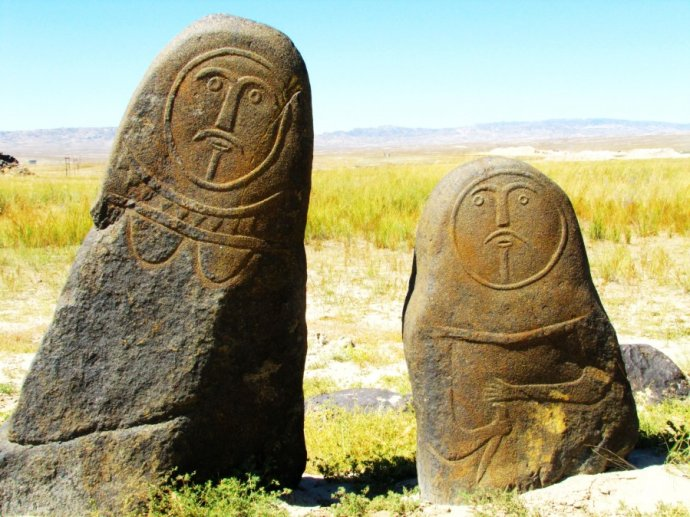 Stone Statues in Altay